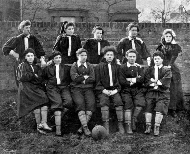 The British Ladies Football Club North Team, believed to be the first official women's football team in the UK, were also the first women's team to play at Sincil Bank in 1896